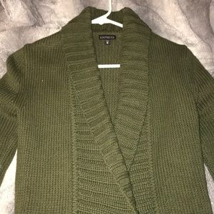 Express Shawl Collar Long Cardigan with Pockets